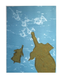 Michael McWillie - Eight Miles High Monotype on Fine Art Paper, Prints