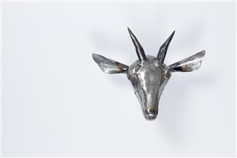 Lida Boonstra - Goat Unicum in Steel, Sculpture