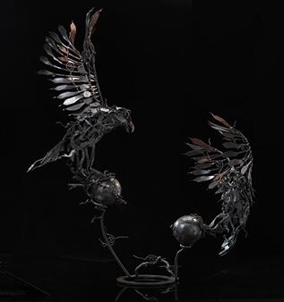 Banjerd Lekkong - Different Time, Different Period view 2 Iron, Sculpture