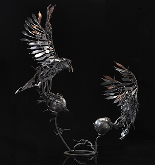 Banjerd Lekkong - View 1 - Different Time, Different Period Iron, Sculpture