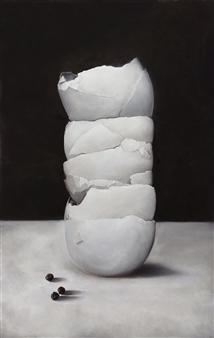 Yuliya Pogreb - Eggshells Oil on Canvas, Paintings