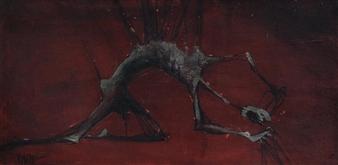 Vinod More - As It Begins Acrylic on Canvas, Paintings