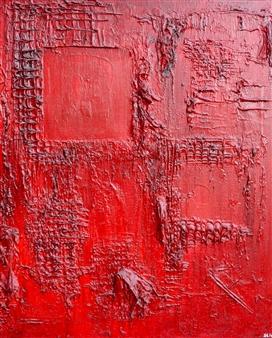 Stivi - Scar Acrylic & Mixed Media on Canvas, Mixed Media