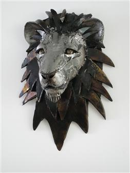 Lida Boonstra - Lion leftside Unicum in Steel, Sculpture