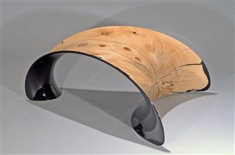 Iftah Geva - Stool, view 2 Carbon Fiber and Wood, Sculpture
