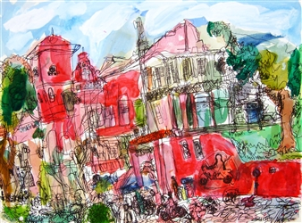 Ping Lian Yeak - 05106 Christ Church Malacca IV Watercolor & Ink on Paper, Paintings