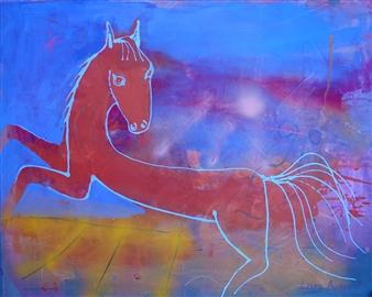 Lars Aukrust - Dream Horse Acrylic on Canvas, Paintings