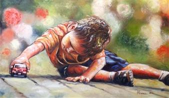 Cesar Alvarez - Innocence Oil on Canvas, Paintings
