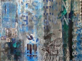 Maria Fernandez Gold - Guernica de Mi Vida Acrylic & Mixed Media on Canvas, Mixed Media