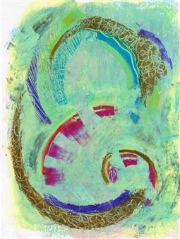 Joan Shimabukuro - Wispy 8 Oil Pastel on Paper, Drawings