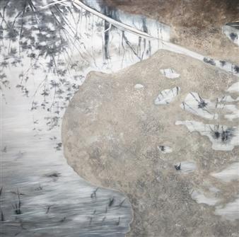 Shabnam Yousefian - Marsh Mixed Media on Canvas, Mixed Media
