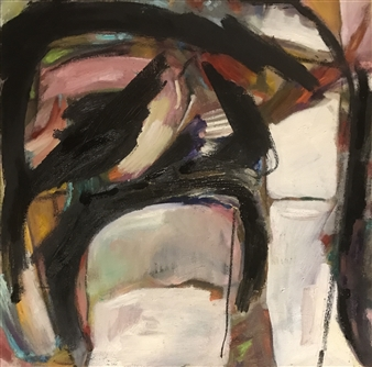 Lauralee Franco - Us Together Oil & Charcoal on Canvas, Mixed Media