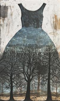 Kirsi Neuvonen - Aarnimetsa (Primeval Forest) Etching on Paper, Prints