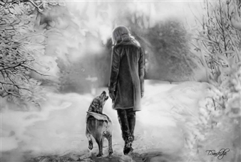 Tiko Sanikidze - Always Together Pencil on Paper, Drawings