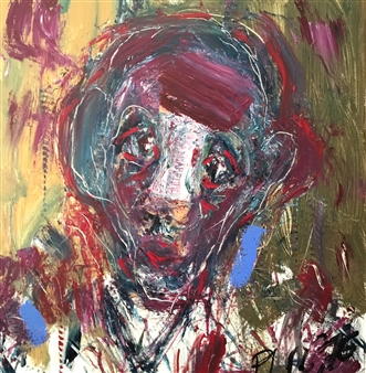 Philippe Thélin - Study for a Self-portrait with a Bandage on the Nose Acrylic on Canvas, Paintings