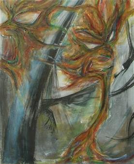 Kenji Inoue - Egotism Acrylic on Canvas, Paintings
