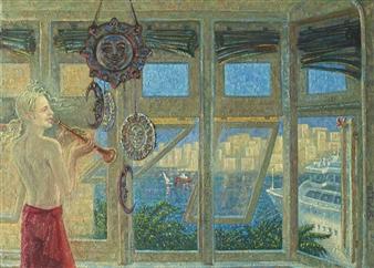 Alexander Telin - Day Giclee Print with Acrylic Embellishment, Prints