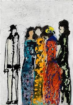 Gita Levy - Exception Mixed Media on Canvas, Mixed Media