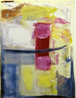Donna Broder - Balancing Containment Monotype on Fine Art Paper, Prints