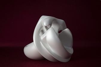 Maria Bayardo - La Mecedora (Rocking) Fiberglass, Sculpture