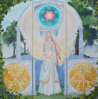 Doris Brown - The Celtic Angel Acrylic on Canvas, Paintings