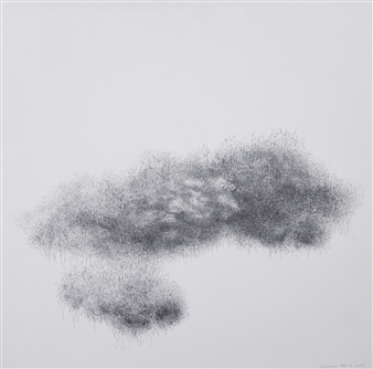 Michelin Basso - Untitled 3 Graphite on Canvas, Drawings