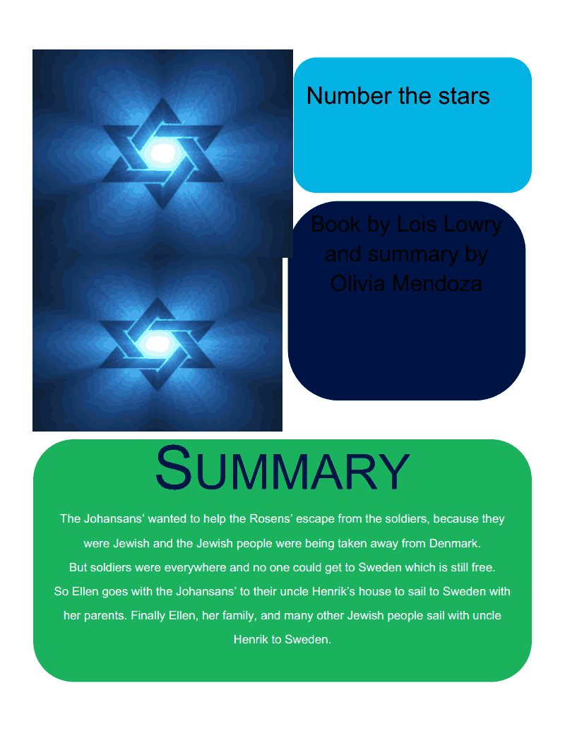 Number the stars summary number the stars