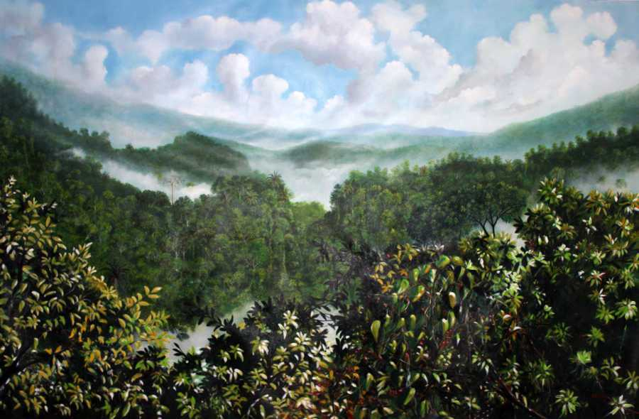 Ricardo Sanchez Beita - Panama Drawing Abstraction Painting Landscape