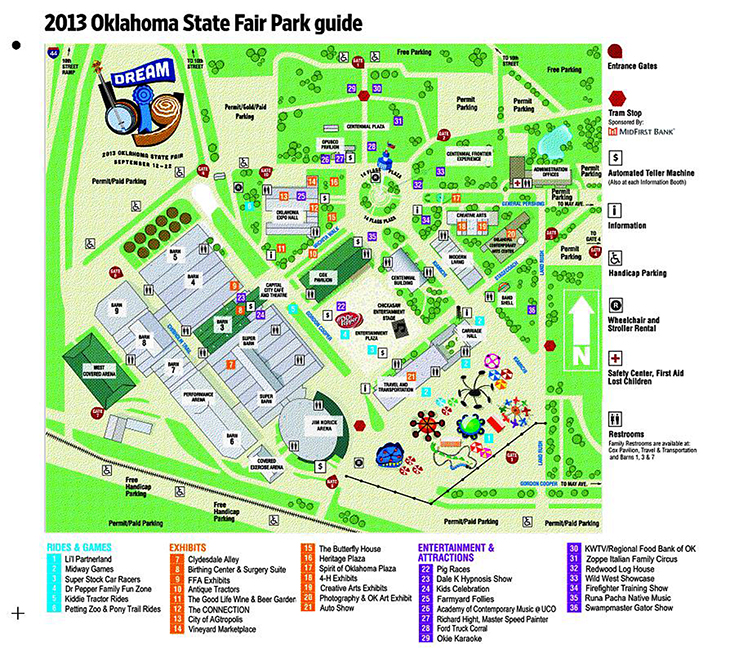 2014 State Fair Of Oklahoma  Map  Newsok
