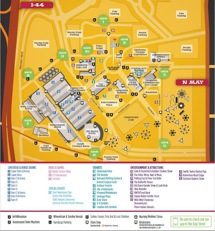 2016 State Fair of Oklahoma Map Newsokcom