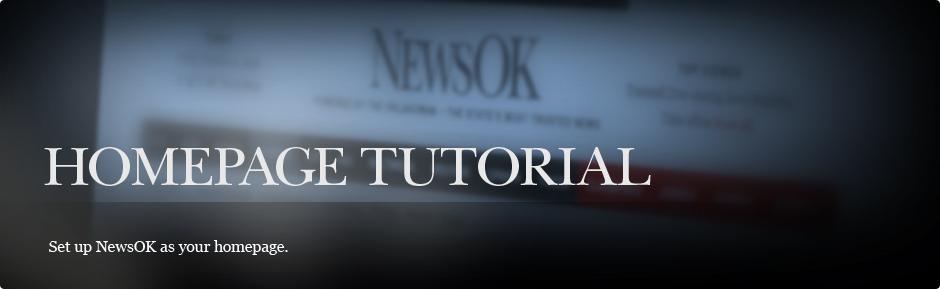 Bookmark NewsOK as your homepage