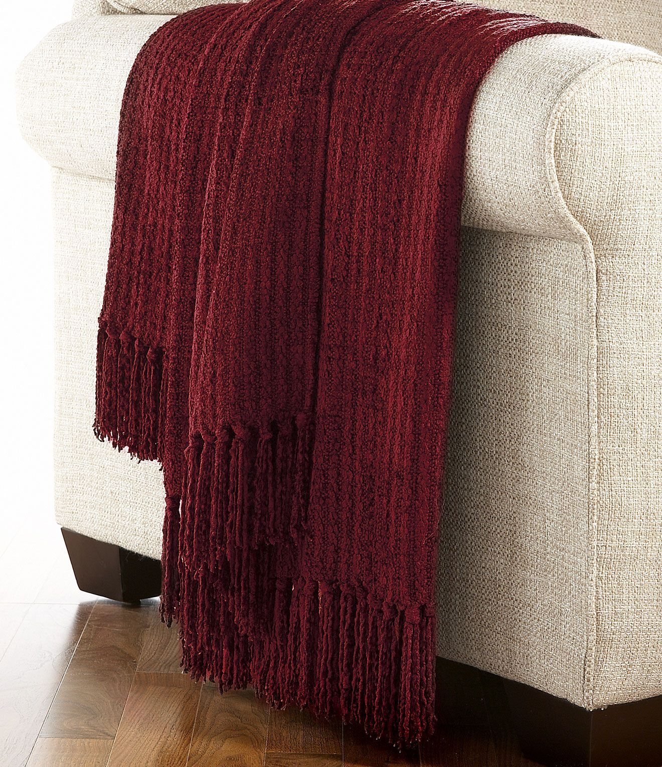 Nobility Solid Chenille Throw