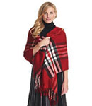 Preston & York Exploded-Plaid Oversized Wrap