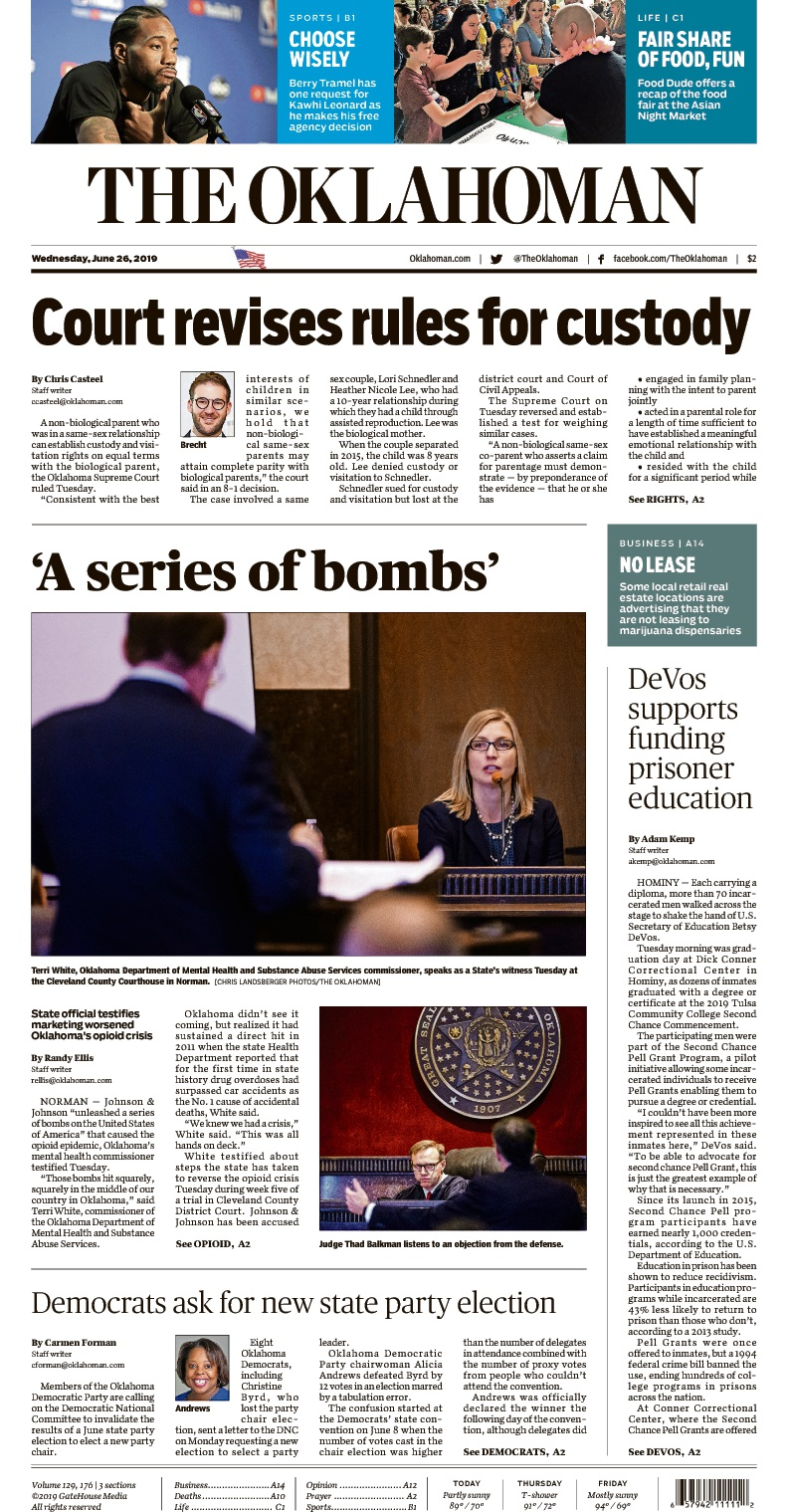 The Oklahoman Front page