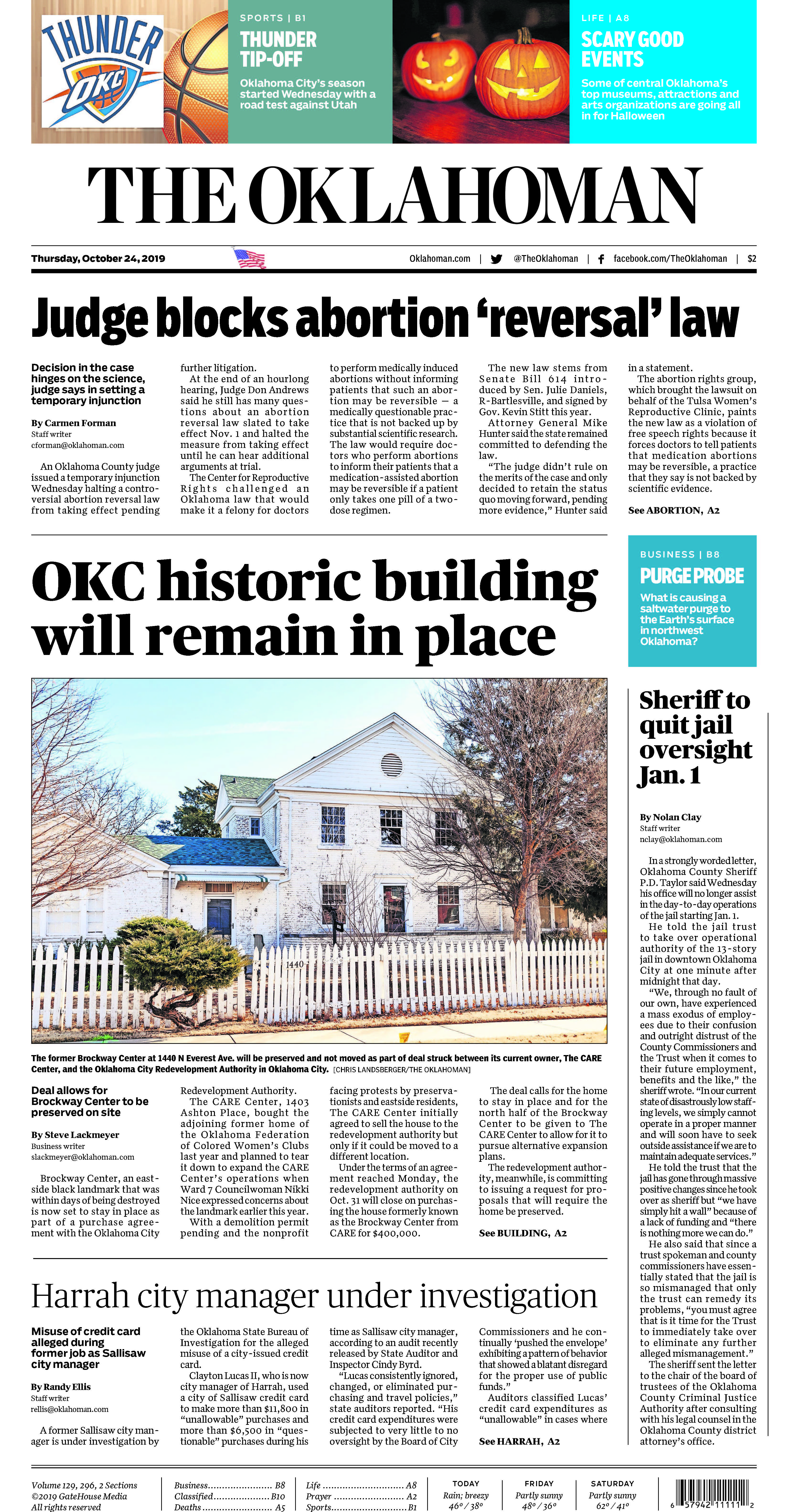 The Oklahoman News page