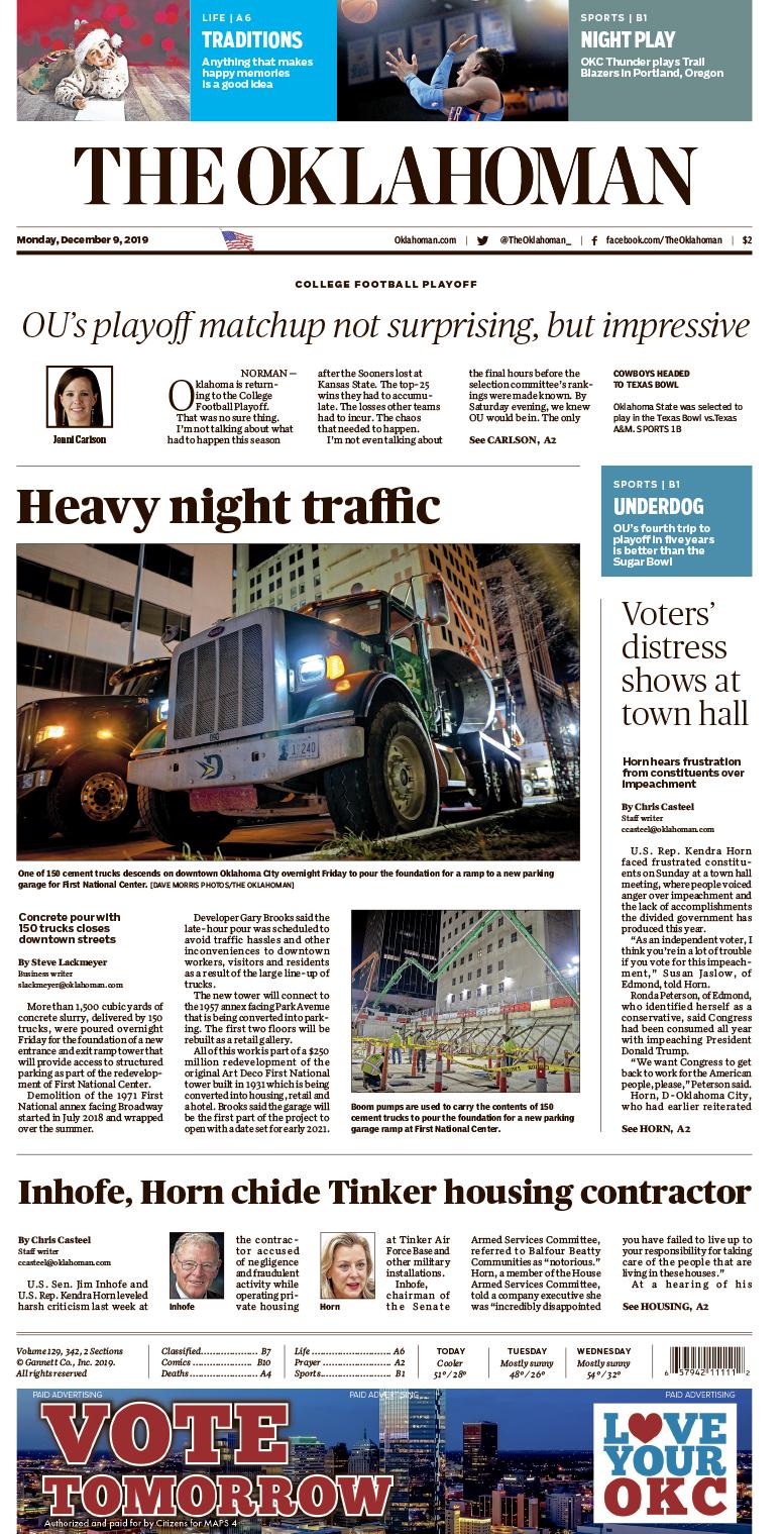 The Oklahoman News page