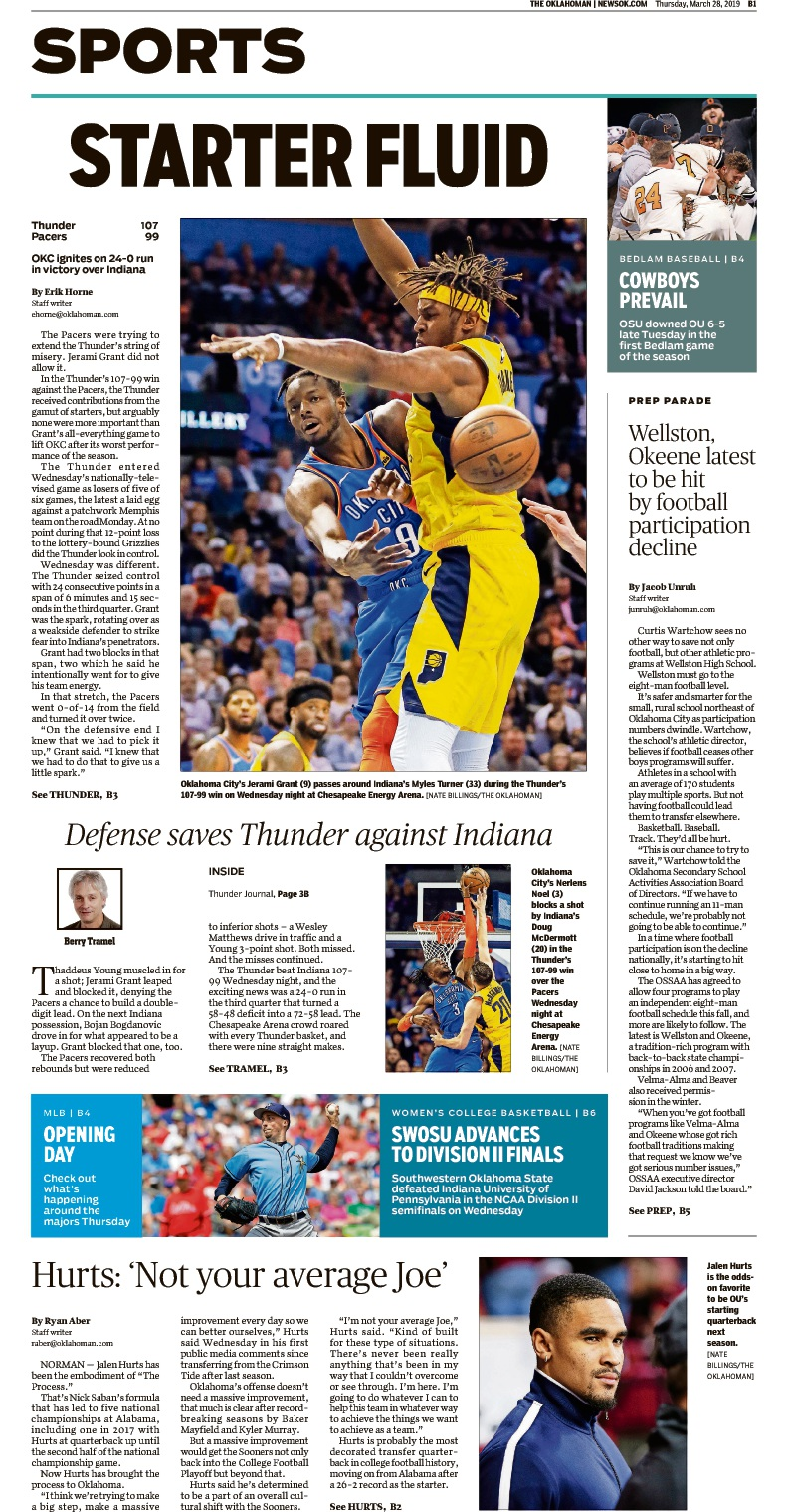 The Oklahoman Sports page