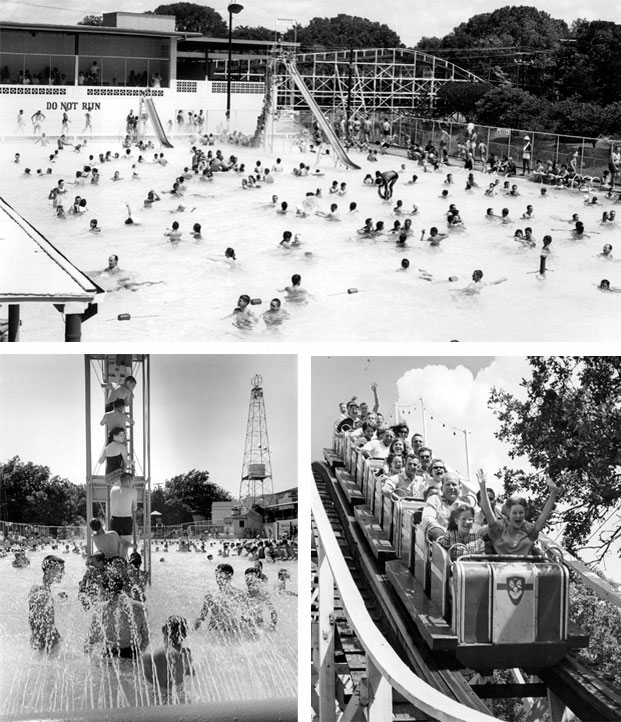 Crowds swarmed to Springlake Amusement Park each summer to cool off in the swimming pool, ride the roller coaster and listen to their favorite musical artists