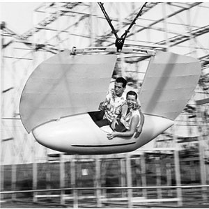 The Flying Scooter was one of Wedgewood Village's two newest rides in 1959.
