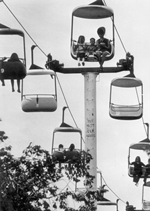 The Alpine Skyway gave riders an aerial view in 1971 at Springlake Amusement Park.