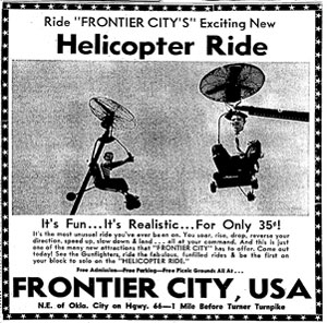 add for helicopter ride at frontier city