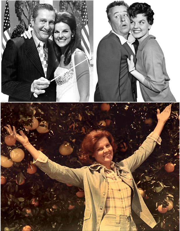 Anita Bryant as a television start, co-host and pitch woman for Florida orange juice