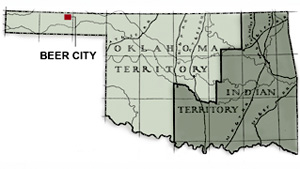 Beer City was a bustling and rowdy place for cowboys to visit in what would become the Oklahoma Panhandle.