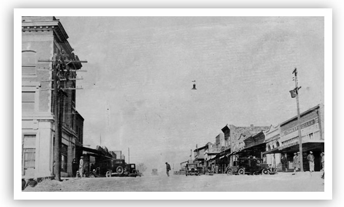Pecan Street, the main thoroughfare in Boley, can be seen in this archive photo. The date is unknown.
