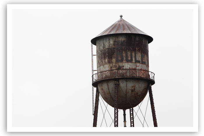The Boley water tower as it looks now. Restoring it would cost $175,000 or more.
