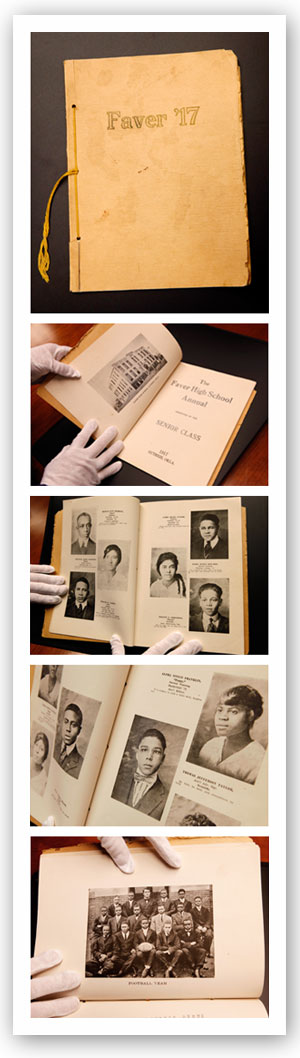 A collection of images from a Faver High School Yearbook dated 1917.