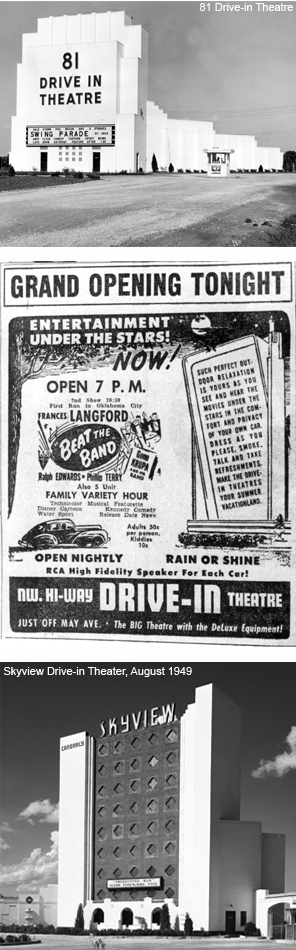 81 drive-in, skyview drive-in, sign for drive-in show