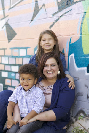 Michelle Kelley, Biggin' and Darlin' -- the children she at first fostered, and ended up adopting.