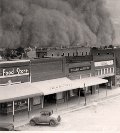 Dust storms in Oklahoma would provide clouds of darkness that could consume and entire town