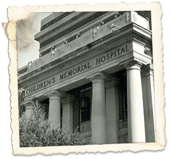 In 1957, the hospital's name was changed to Children's Memorial Hospital. This photo was taken in 1960.